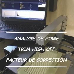 Analyse de Fibre avec facteur de correction et Trim High OFF