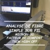 Analyse de Fibre simple sur fil