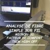 Analyse de Fibre simple sur fil