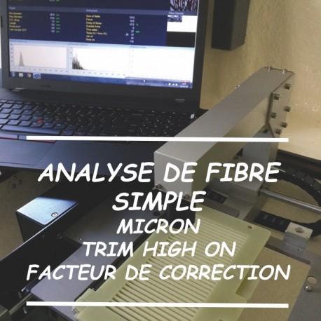 Analyse de Fibre Simple